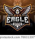 Eagle esport mascot logo design 76631397