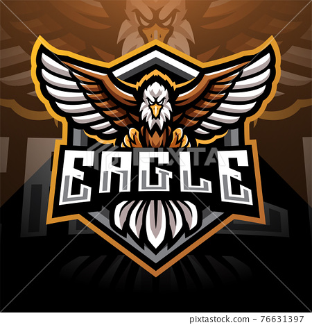 Eagle esport mascot logo design 76631397