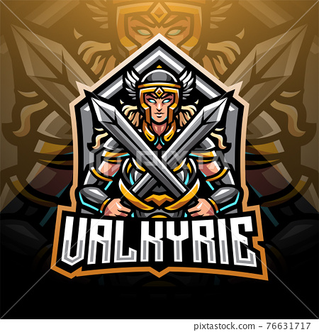Valkyrie esport mascot logo design 76631717