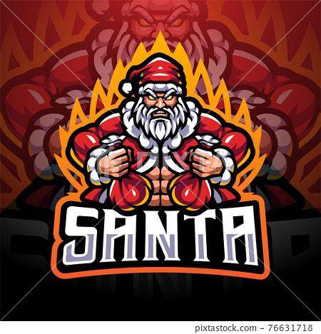 Santa esport mascot logo design  76631718