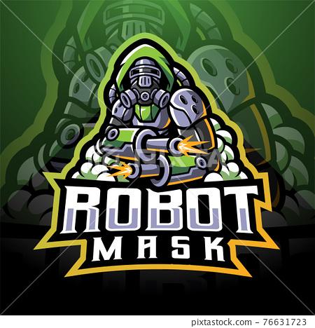 Robot mask esport logo mascot design 76631723