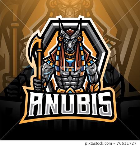 Anubis esport mascot logo design 76631727