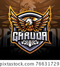 Garuda esport mascot logo design 76631729