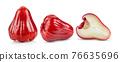 Rose apples  on white background 76635696