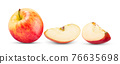 red apple isolated on white 76635698