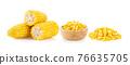 corn isolated on white background 76635705
