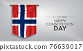 Norway constitution day greeting card, banner, vector illustration 76639017