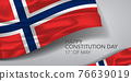 Norway happy constitution day greeting card, banner with template text vector illustration 76639019