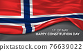 Norway happy constitution day greeting card, banner with template text vector illustration 76639022