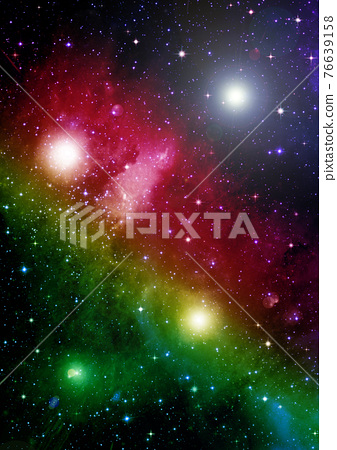galaxy in a free space. 3D rendering 76639158