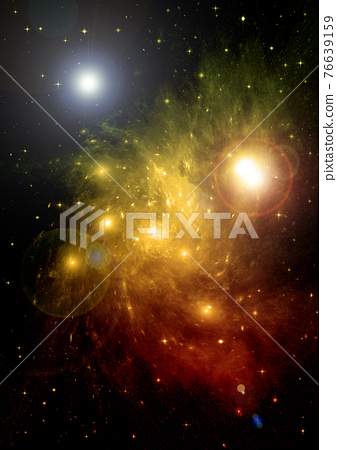 galaxy in a free space. 3D rendering 76639159