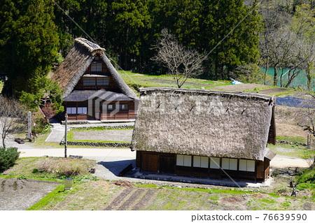 Kakinuma Gassho village built in spring 76639590