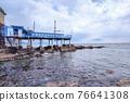 boccadasse santa chiara genoa old village cement stone pier beach 76641308