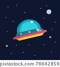 UFO spaceship flat design 76642859