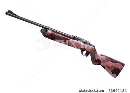 Rifle Isolated on white background 76643128