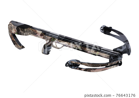Crossbow isolated on white 76643176