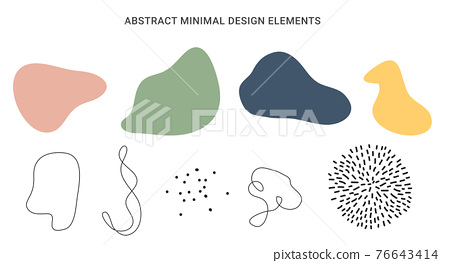 Abstract minimal design element collection set. Vector illustration 76643414