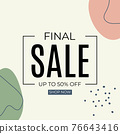Final Sale Abstract Background in Simple Minimal Style. Vector Illustration 76643416
