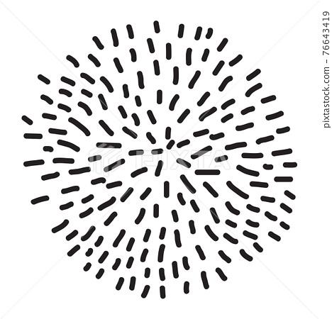 Abstract minimal design element. Vector illustration 76643419