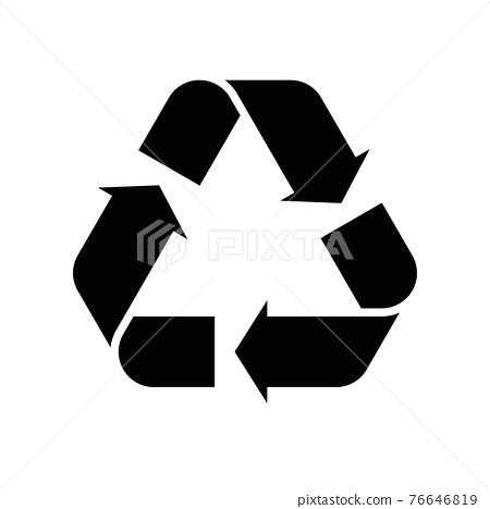 Black flat universal recycling symbol 76646819