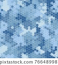 Arctic blue colors seamless pattern background of hexagons and squares 76648998