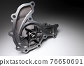 Water pump of the internal combustion engine cooling system. Contrasting on a gray gradient 76650691