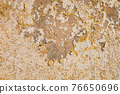 cracked wall texture plaster yellow shades background 76650696