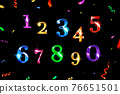 Vector Confetti Numbers Set 76651501