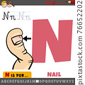 letter N from alphabet with cartoon nail body part 76652202