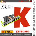 letter K from alphabet with keyboard word 76652207