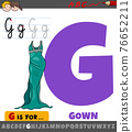 letter G from alphabet with cartoon gown 76652211