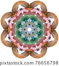 Colorful cute Mandalas. Decorative unusual round ornaments. 76656798