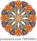 Colorful cute Mandalas. Decorative unusual round ornaments. 76656801