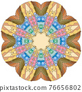 Colorful cute Mandalas. Decorative unusual round ornaments. 76656802