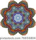 Colorful cute Mandalas. Decorative unusual round ornaments. 76656804