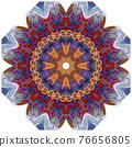 Colorful cute Mandalas. Decorative unusual round ornaments. 76656805