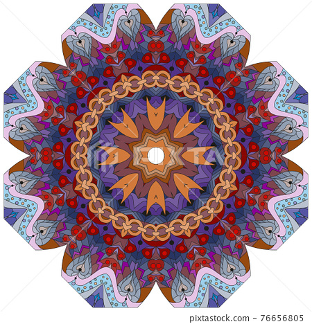 Colorful cute Mandalas. Decorative unusual round ornaments. 76656805