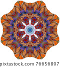 Colorful cute Mandalas. Decorative unusual round ornaments. 76656807