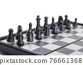 Chess on the chessboard on white background 76661368