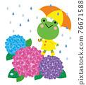 青蛙 繡球花 雨季 76671588