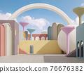 Colorful fantasy exterior 3d render 76676382