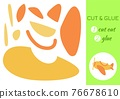 Cut and glue paper cartoon yellow plane. Cut and paste craft activity page. Educational game for preschool children. DIY worksheet. Kids logic game, activities jigsaw. Vector stock illustration. 76678610