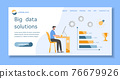 Big data solution financial increase growth People 76679926