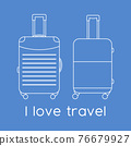 Vector illustration Suitcase Travel Summer Holiday 76679927