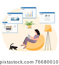 Remote Work Freelance Studying People Home Covid19 76680010