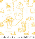 Vector Travel Seamless pattern Summer rest Holiday 76680014
