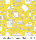 Vector Pattern Laundry Washing service Household 76680016