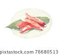 crab stick, kamaboko, food made from fish paste 76680513