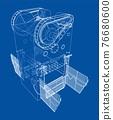 Powerful Press. Vector 76680600