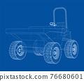 Dumper Truck. Vector 76680601